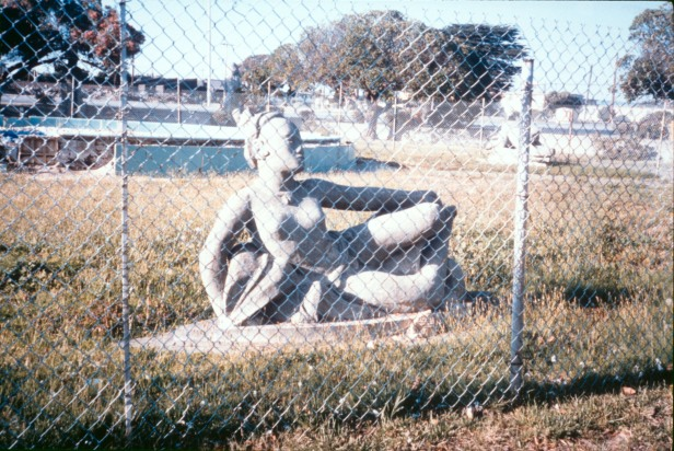"Adaline Kent, sculptor, original sculpture from Court of Pacifica, Treasure Island, entitled ""Native Girl Reclining."""