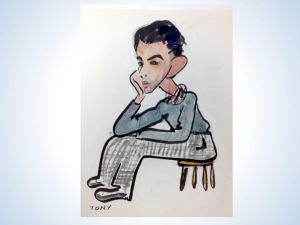 Antonio Sotomayor self-portrait (in hand-painted Pacific House booklet)