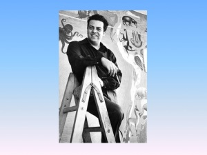 Miguel Covarrubias posing with