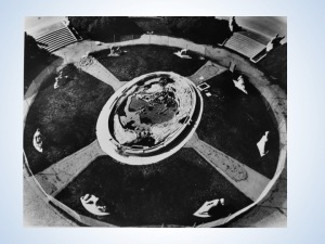Overhead image, Court of Pacifica, date unknown (post 1942)