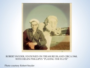 Sailor Bob Snyder and Helen Phillips sculpture, circa 1968