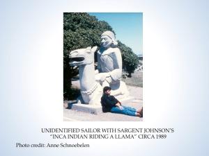 Sargent Johnson sculpture, Court of Pacifica, circa 1992